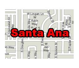 What is the zip code for santa ana ca