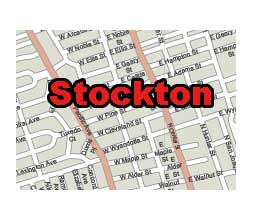 Stockton city, CA street map, Stockton zip code map. 8 MB ...