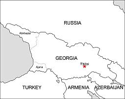 Asia. Georgia free eps map