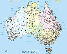 Editable royaltyfree map of Australia in vectorgraphic online store