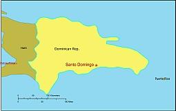 Editable Royaltyfree Map Of Dominican Republic In Vectorgraphic - Dominican republic map vector