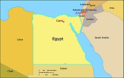 Egypt Free Vector Map Lossless Scalable AIPDF Map For Printing - Map of egypt vector