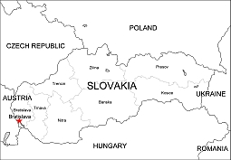 Editable royalty-free map of Slovakia in vector-graphic online store.