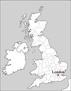 Editable Royaltyfree Map Of United Kingdom In Vectorgraphic - United kingdom map vector