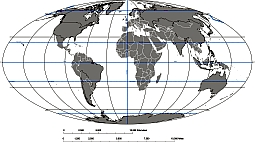 Editable royalty free map of mollweide projection oval format in grayscale world map with georeference gumiabroncs Image collections