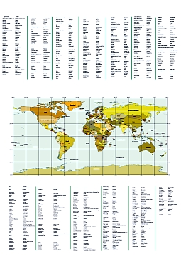 List of the countries of the world and their capitals and map political world map and country capital list gumiabroncs Images