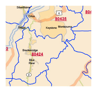 Zip Code Map Of Colorado on