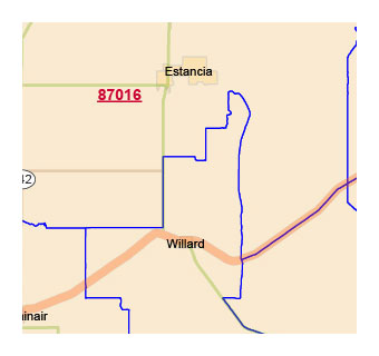 New Mexico zip code vector map