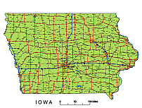 Editable Royalty Free Map Of Iowa Ia In Vector Graphic Online Store