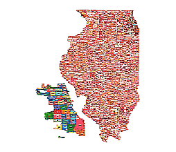 Editable Royaltyfree Map Of Illinois IL In Vectorgraphic Online - Il on us map