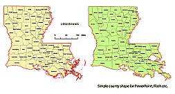 Editable Royalty Free Map Of Louisiana La In Vector Graphic Online Store