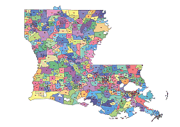Preview Of Louisiana Zip Code Vector Map Location Name Lossless - Us zip code map pdf