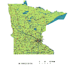 Preview of Minnesota State vector road map. lossless ...