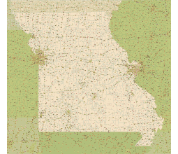 Editable Royaltyfree Map Of Missouri MO In Vectorgraphic Online - Highway map of missouri