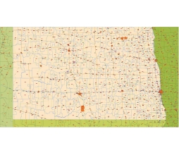 Nd Zip Code Map.North Dakota Zip Code Vector Map 2015 Lossless Scalable Ai Pdf Map