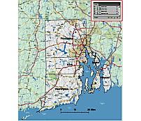 Vector County Map Of Rhode Island State 5 Mb Illu Cs Version