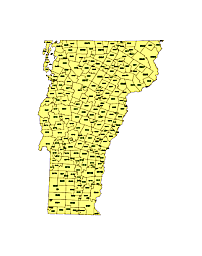 Editable Royaltyfree Map Of Vermont VT In Vectorgraphic Online - Vermont in us map