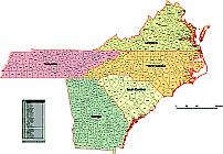 5 Us States On Separat Layers Nc Sc Va Tn Ga Lossless Scalable Ai
