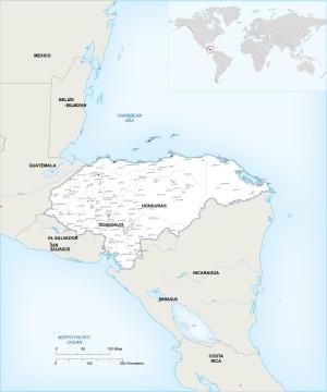 Honduras map, preview
