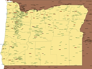 Oregon state airports map