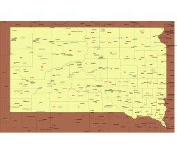 South Dakota airports map