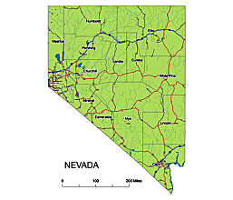 Nevada state highway map