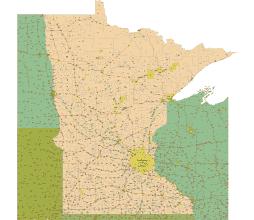Minnesota zip code map 2015