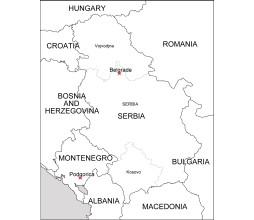 serbia free eps map