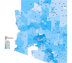 Arizona Median Income By Zip Code Lossless Scalable Ai Pdf Map For
