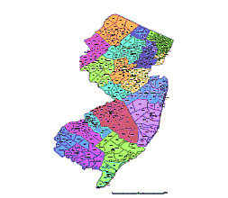 Zip Code New Jersey Map.Editable Royalty Free Map Of New Jersey Nj In Vector Graphic Online