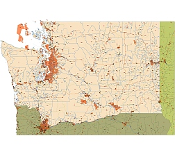 WA state main route and zip code