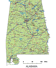 Alabama highways, hidrography