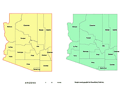 Arizona printable county artwork