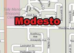 Modesto printable map