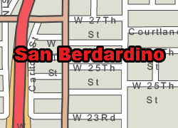 San Bernardino vector map