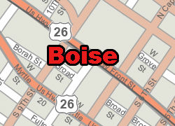 Boise vector map