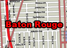Baton-Rouge vector map