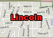 Lincoln,NE vector map