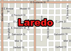 Laredo vector map