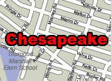 Chesapeake vector map