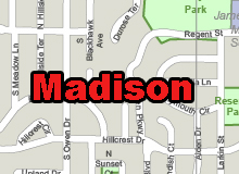 Madison, WI, vector map