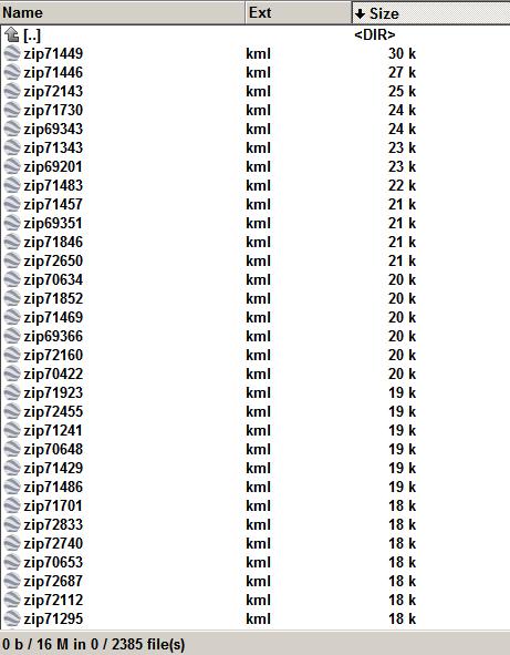 Kansas 2385  zip code shape as kml file.