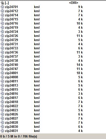 West Virginia 706 zip code shape as kml file.