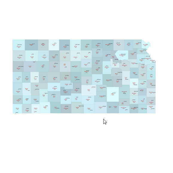 Most accurate Illustrator map of Kansas counties