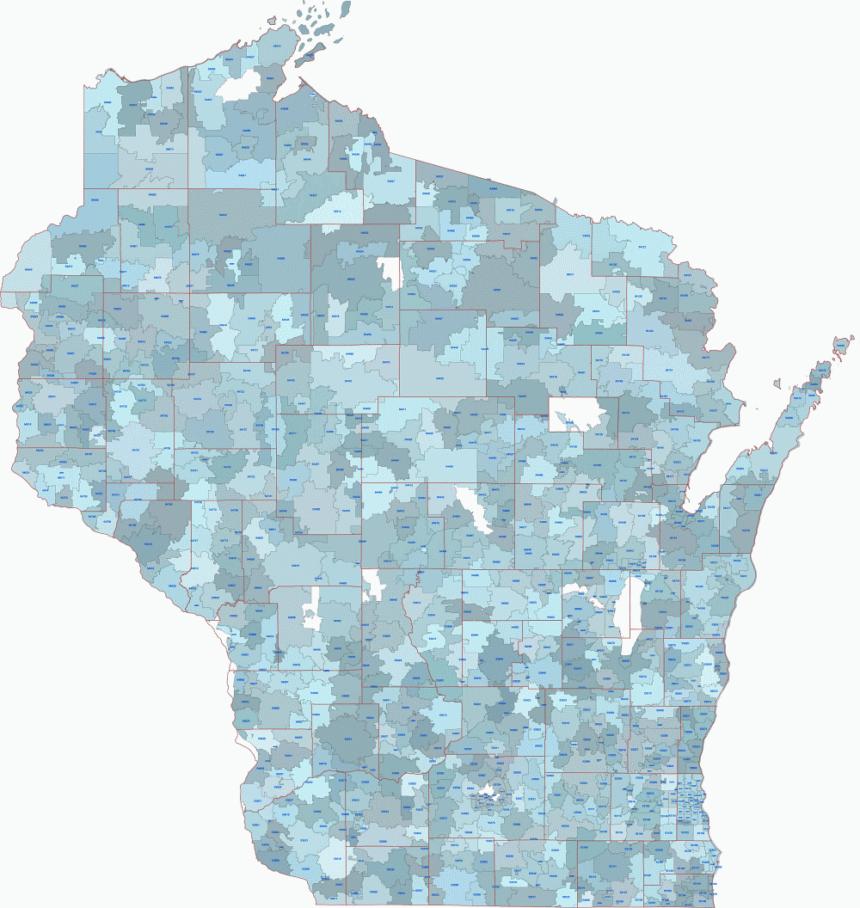 Editable PDF. Illustrator file of Wisconsin