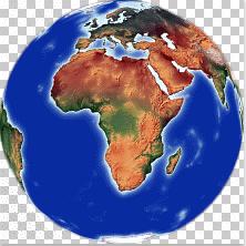 Africa centered Globe