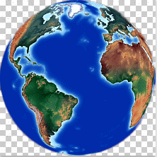 Earth Globe from Space. Atlantic ocean centered