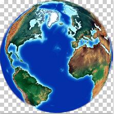 Atlantic Ocean centered earth Globe