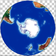 South Pole from Space.