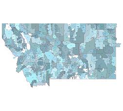 Montana 5 digit zip code map